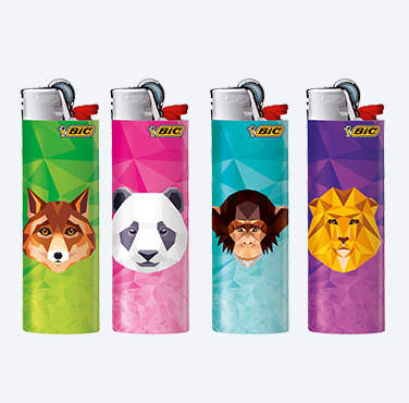 BIC MINI ELECTRONIC LIGHTERS WILD SERIES