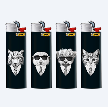 BIC MAXI LIGHTERS COOL ANIMALS SERIES
