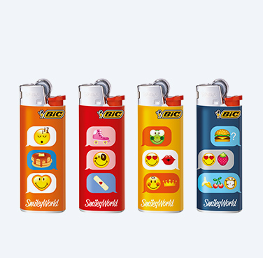BIC MAXI LIGHTERS SMILEY® SERIES